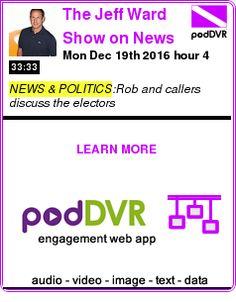 #NEWS #PODCAST  The Jeff Ward Show on News Radio 590 KLBJ    Mon Dec 19th 2016 hour 4    READ:  https://podDVR.COM/?c=d22adae4-54ab-0e17-d0fc-a2e70f927883
