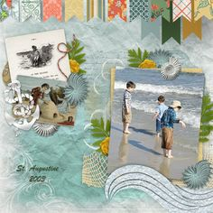 Digital Scrapbooking Kit  Vintage Vacation by Over The Fence Designs https://www.digitalscrapbookingstudio.com/collections/v/vintage-vacation-by-over-the-fence-designs/