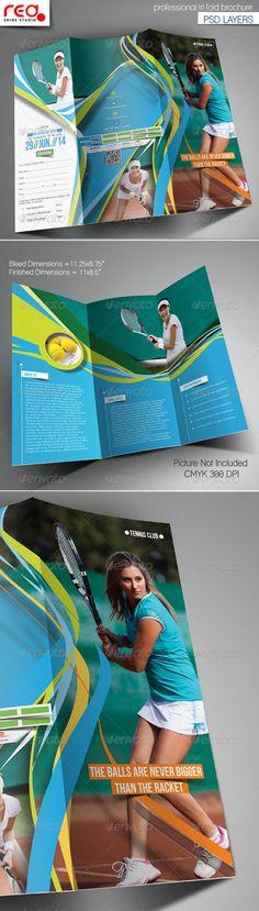 Tennis Club Trifold Brochure Template