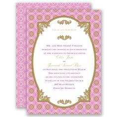 Timeless elegance and classic style create an enchanting two-sided wedding invitation - in Begonia #DavidsBridal #WeddingInvitation #PinkWedding http://www.invitationsbydavidsbridal.com/Wedding-Invitations/View-All-Wedding-Invitations/2947-DB05BB0F-30-Touch-of-Gold--Begonia--Invitation.pro?&sSource=Pinterest&kw=SoPinkinCute_DB05BB0F