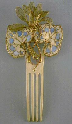 Art Nouveau - Peigne d'ornement - Vever