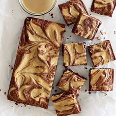 KEEPER!  Tahini Swirl Brownies   GF  /  Ingredients  1/4 cup untoasted sesame oil 3 tablespoons butter, coarsely chopped $ 4 ounces bittersweet chocolate, coarsely chopped 80% 3/4 cup granulated sugar $ 3 large eggs, divided $ 1 teaspoon vanilla extract 1/2 teaspoon salt 3 ounces all-purpose flour GF  1/4 cup tahini (sesame seed paste), at room temperature 1 tablespoon brown sugar (coconut sugar)