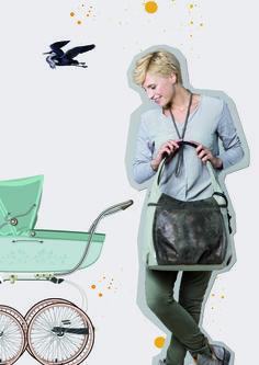 Diese Tasche macht Muttis glücklich. Die Casual Hobo Bag ist eine modische Wickeltasche und ein besonders praktischer Begleiter. Die Tasche verfügt über zwei Zugänge zum Hauptfach. Sie lässt sich von oben öffnen und bietet durch einen weiteren seitlichen Reißverschluss ein leichteres Hineingreifen ins Hauptfach, ohne dabei die Tasche von der Schulter nehmen zu müssen. Im Inneren der Wickeltasche befindet sich eine durchdachte Innenaufteilung.