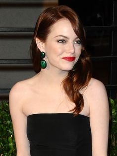 Normally, I hate red lipstick. But for some reason i think it looks awesome on her. Emma Stone ladies and gentleman.