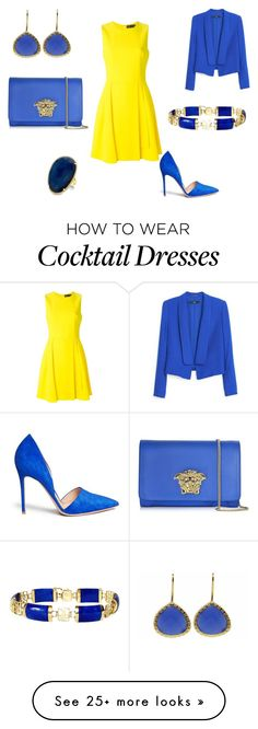 """""""Untitled #54"""" by tati-oliveira on Polyvore featuring Versace, Gianvito Rossi, MANGO and Coralia Leets"""