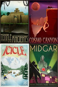 Final Fantasy VII Travel Posters