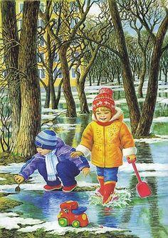 Lyubov Novoselova - auteur van opmerkelijke illustraties voor kinderen en over kinderen, tot leven gebracht op het idee van de meeste leraren over het opmerkelijke verhaal foto's op de seizoenen van het jaar, die kan worden gezien, niet alleen de symptomen van een bepaalde tijd van het jaar, maar ook de activiteiten van de kinderen, hun hobby's, kleding voor het seizoen en het weer, en het allerbelangrijkste, emoties baby gezicht, interpersoonlijke relaties, de relatie met de wereld.