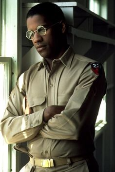 Denzel Washington as Private First Class Peterson from the movie A Soldier's Story.