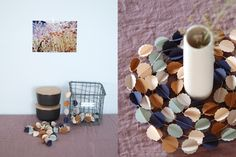 """CLOUDS """"automne"""" handmade paper garland - styling and photo © Mi-avril"""