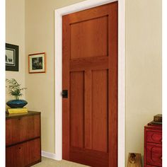 Merveilleux Golden Cherry 3 Panel Door By HomeStory Doors Craftsman Style Interiors,  Wood Interiors, 3