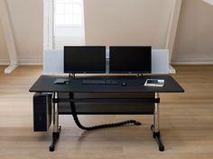 Scrivania direzionale rettangolare USM KITOS E ADVANCED | Scrivania ad altezza regolabile - USM Modular Furniture