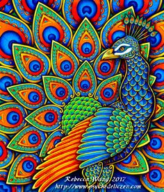 Paisley Peacock by psychedeliczen on DeviantArt