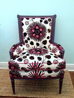 omg, what a gorgeous chair! beautiful upholstered antiqued chair by CoastalChicDes on Etsy