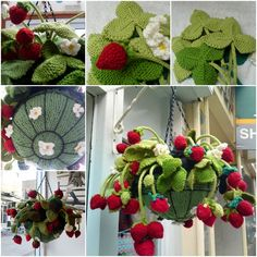 This is one of the most beautiful knitted things I think I have ever seen. What a wonderful hanging basket. It looks so warm and welcoming. It's easier to make this as you thought. If you love knitting, you should really try this as your next project. Photo credit from …