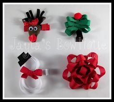 Christmas Ribbon Sculpture Clippies