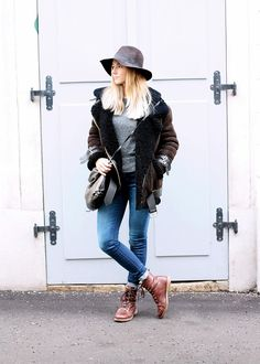 Fair Fashion Look for Winter featuring Acne Velocite Jacket