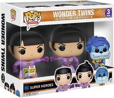 Funko Pop Figures, Pop Vinyl Figures, Héros Dc Comics, Wonder Twins, Figurine Pop, Pop Heroes, Funko Pop Vinyl, Bobble Head, Vinyls