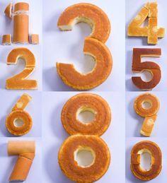 Como fazer número no bolo customizado (bem fácil) em sua própria cozinha com formas que já tem.