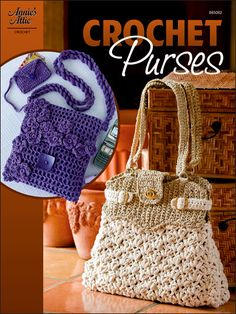 Crochet Purses pattern for two purses. $4.95