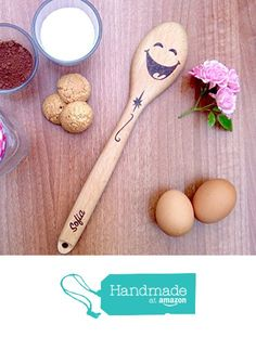 Happy Smiley Face, Wooden Gifts, Wooden Spoons, Woodburning, Kitchen Art, Pyrography, Hand Engraving, Christmas Gifts, Student