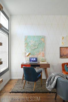 DIY Sharpie Wallpaper Tutorial - Vintage Revivals