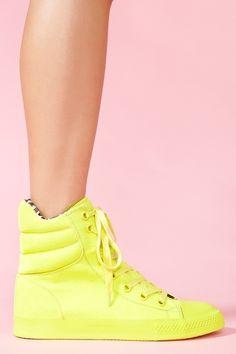 neon yellow Nexxus sneakers <3