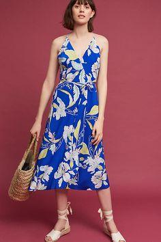 This Anthropologie dress is too gorgeous | http://www.hercampus.com/style/selena-gomez-coachella-2017-floral-midi-dress