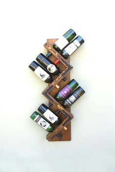 Wall Wine Rack 8 Bottle Holder - Talk about adding character, this wine rack sure has it and will complement any bar area https://www.etsy.com/listing/290668733/wall-wine-rack-8-bottle-holder-storage?ref=shop_home_active_6