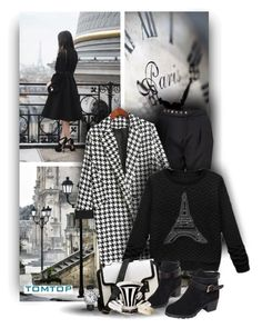 """So french with Tomtop Fashion"" by christiana40 ❤ liked on Polyvore featuring women's clothing, women, female, woman, misses and juniors"