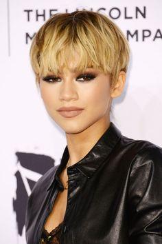We're drooling over Zendaya's blonde pixie cut.