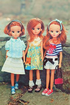 Vintage 2nd generation Licca dolls by Locksley
