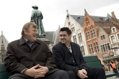 Still of Colin Farrell and Brendan Gleeson in In Bruges