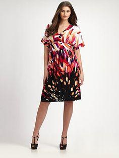 Melissa Masse dress - love the print #plussize