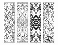 4 Mandala Colouring Bookmarks Meditation, Peace, Joy, Stress Relieving by IntrikateInk