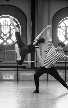 "kameliendame: "" Amandine Albisson and Audric Bezard in rehearsal for Sebastien Bertaud's Renaissance ph. Julien Benhamou """