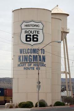 Water Tower Kingman, AZ - we stayed in Kingman on way to Grand Canyon
