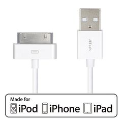 Sale Preis: iPhone 4s Cable, JETech® APPLE CERTIFIED USB Sync and Charging Cable for iPhone 4/4S, iPhone 3G/3GS, iPad 1/2/3, iPod - 3.2 Feet 1 Meter - 0156. Gutscheine & Coole Geschenke für Frauen, Männer & Freunde. Kaufen auf http://coolegeschenkideen.de/iphone-4s-cable-jetech-apple-certified-usb-sync-and-charging-cable-for-iphone-44s-iphone-3g3gs-ipad-123-ipod-3-2-feet-1-meter-0156  #Geschenke #Weihnachtsgeschenke #Geschenkideen #Geburtstagsgeschenk #Amazon