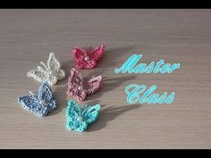 Мастер-класс по вязанию маленькой бабочки крючком. How to crochet a little butterfly - YouTube