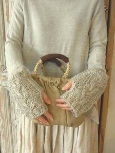 warm, cable-y, rustic wrists...