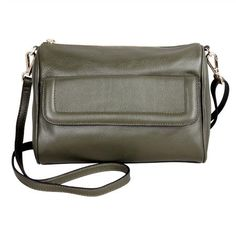 Karla Hanson - Green Crossbody Bag - $99.00/each This Ladies Fashion Crossbody Bag is made from cow leather with a golden finish, approximately 24 x 6.5 x 16.5-65 cm. Presented by www.ecomcreator.com Leather Crossbody Bag, Leather Bag, Cow Leather, Bag Making, Ladies Fashion, Womens Fashion, Shoulder, Lady, Green