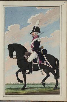 Batavia(Dutch); Dragoon Regiment, c.1802 Holland, Army Uniform, Napoleonic Wars, Nassau, Military Art, Soldiers, Warriors, Dutch, Cape