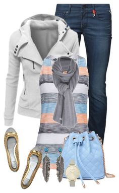 dia dia by daianetavares310 on Polyvore featuring polyvore, moda, style, Replay, Tory Burch, Care By Me, NIKE, fashion and clothing