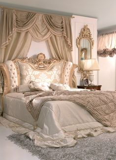 Schlafzimmer A Quick Rundown on Rustic Bedding These days, anyone looking to purchase home furnishin Room Ideas Bedroom, Bedroom Colors, Dream Bedroom, Home Decor Bedroom, Luxury Bedroom Sets, Luxurious Bedrooms, Luxury Bedding, Royal Bedroom, Baroque Bedroom