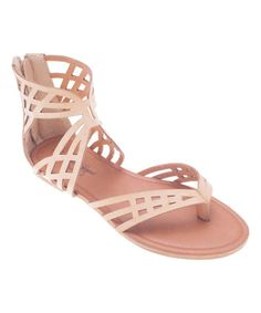 Look what I found on #zulily! Natural Gladiator Sandal #zulilyfinds