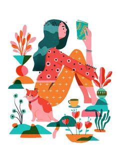 Garden Ladies by Geraldine Sy Art And Illustration, People Illustration, Illustrations And Posters, Character Illustration, Graphic Design Illustration, Cartoon Star Wars, Girl Cartoon, Art Design, Design Ios