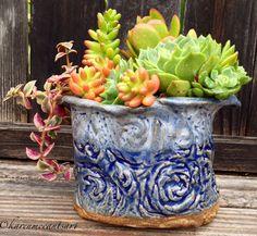Starry night blues pot