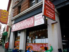 Mr. Bartley's Gourmet Burgers is a great place in eat in Cambridge.