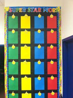 Diary of a Not So Wimpy Teacher: Super Hero Classroom Classroom Organisation, Classroom Displays, Classroom Themes, Superhero Classroom Decorations, Classroom Charts, Organization, Superhero School Theme, School Themes, School Ideas