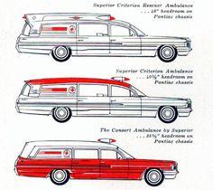 1961 Pontiac Professional / Ambulances LineUp AD