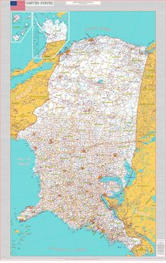 United States by Sabine Réthoré #map #usa